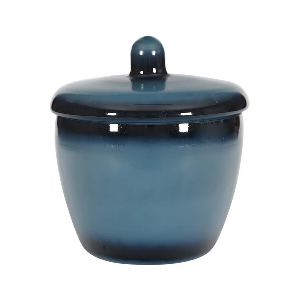 Vitale Mihir Mavi Kapaklı Oval Vazo Küçük Boy AK.FR0099