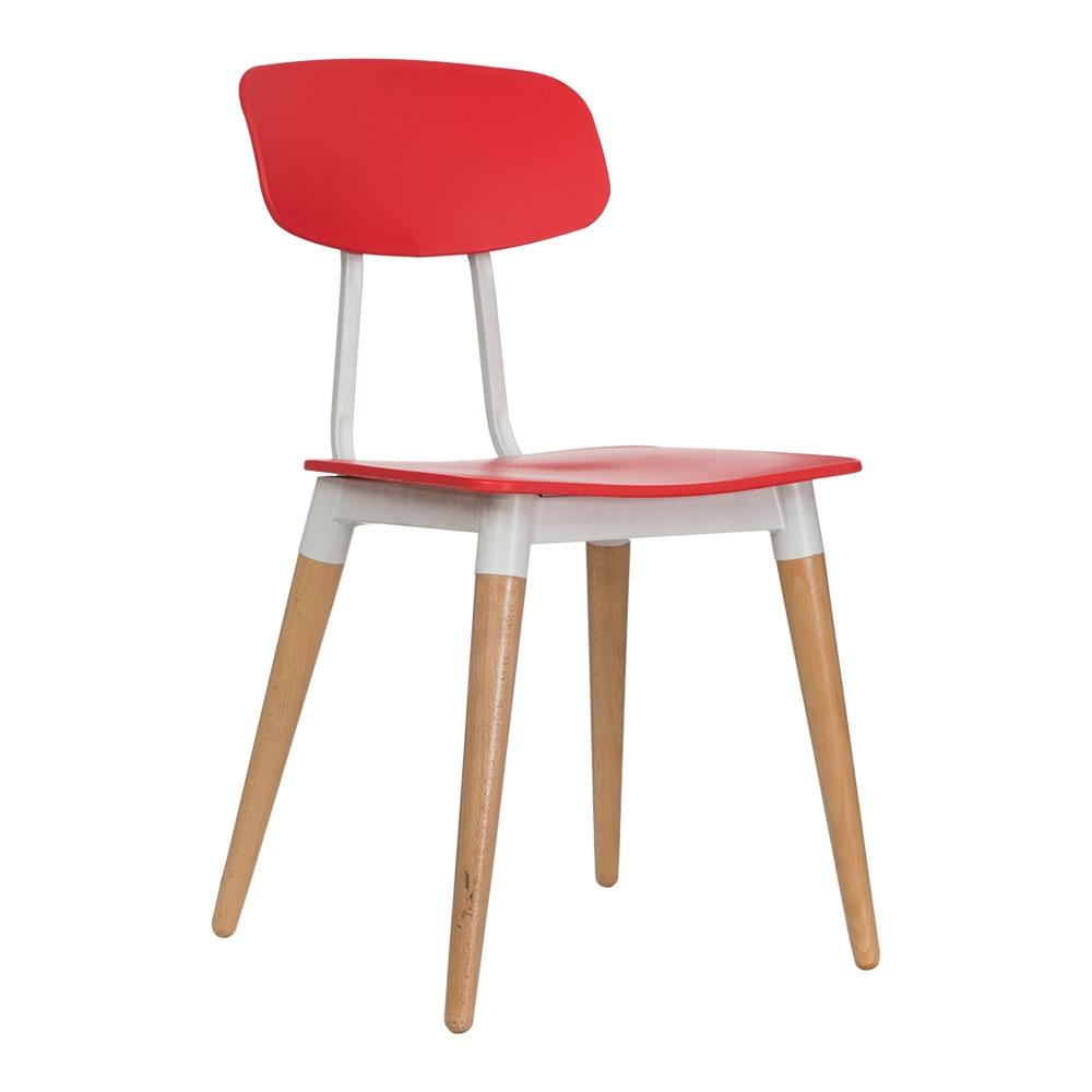 Vitale Modern Kırmızı Ahşap Ayaklı Sandalye MS.PP-629RED