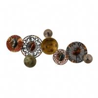 Vitale Lux Renkli Halkalar Dekoratif Duvar Panosu AK.DE0078
