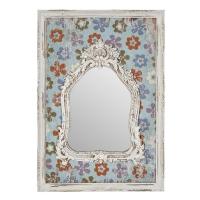 Vitale Sahara Eskitme Çiçek Desenli Çerçeveli Ayna AK.ER0153