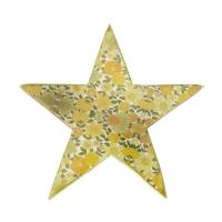 AK.FQ0018-Y Vitale Şiva Çiçek Desenli Dekoratif Yıldız Yeşil Küçük Boy