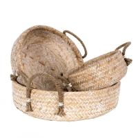 Vitale Nila 3´Lü Yassı Bambu Dekoratif Sepet AK.FS0004