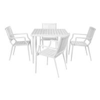 Vitale Zen Dış Mekan Masa Sandalye Seti Beyaz MS.AR121010WHT-SET-BYZ