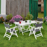 MS.MA100-SET Vitale Ege Beyaz Bahçe Masası Seti