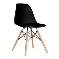 Vitale Aqua Siyah Ahşap Ayaklı Sandalye MS.OW-112A-BLC