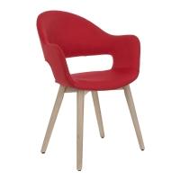 Vitale Gelso Kırmızı Ahşap Ayaklı Sandalye MS.SA024